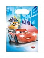6 Sacs cadeaux en plastique Cars Ice™