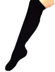 Chaussettes longues noires 53 cm adulte