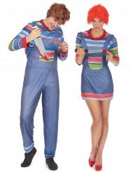 Déguisement de couple poupée tueuse Halloween