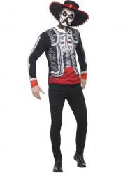 Déguisement mexicain squelette homme Dia de los muertos