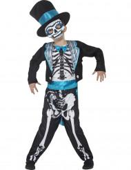 Déguisement costume squelette bleu garçon Dia de los muertos