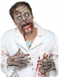 Kit latex zombie masque et mains adulte Halloween