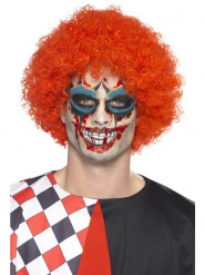Kit maquillage clown malicieux avec tatoo et faux sang adulte Halloween