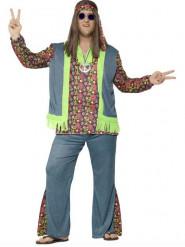 Déguisement hippie flower coloré homme