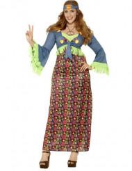 Déguisement hippie flower coloré femme