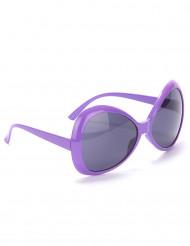 Lunettes disco adulte violet