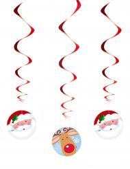 3 Suspensions spirale Père Noël et Renne