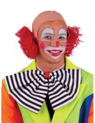Perruque chauve clown rouge adulte