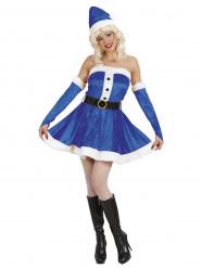Déguisement Mère Noël bleue femme