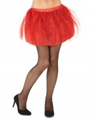 Tutu rouge avec jupon opaque femme