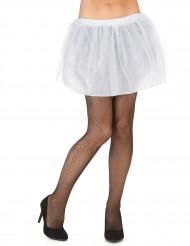 Tutu blanc avec jupon opaque femme
