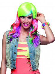 Bracelet punk multicolore adulte