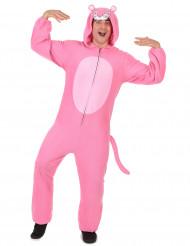 Combinaison à capuche panthère rose homme