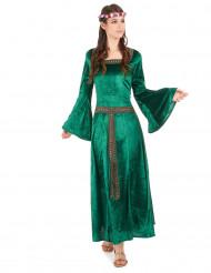 Déguisement princesse médiévale verte femme