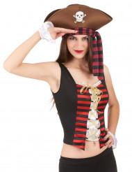 Corset et manchettes pirates femme