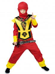 Déguisement ninja rouge et jaune garçon
