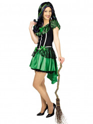Déguisement sorcière verte femme Halloween