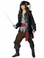 Déguisement capitaine pirate barbe noire homme