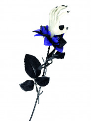 Rose noire et noire avec main aux griffes