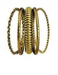 5 bracelets dorés