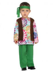 Déguisement hippie multicolore à pois bébé
