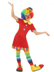 Déguisement robe clown rouge fille