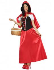 Déguisement robe longue petit chaperon femme