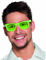 Lunettes vert fluo 50's adulte