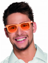 Lunettes orange fluo 50's adulte