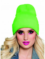 Bonnet vert fluo 90's adulte