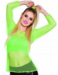 T-shirt fluo vert années 80 femme