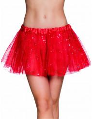 Tutu rouge étoile scintillante femme