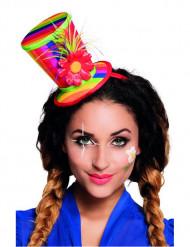 Mini chapeau haut de forme clown adulte