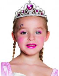 Diadème princesse de coeur fille