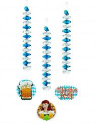 3 Décorations à suspendre 60 cm Oktoberfest