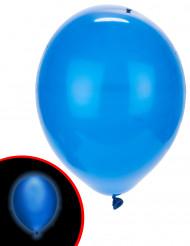 5 Ballons LED bleus Illooms ®