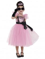 Déguisement diva glamour rose fille