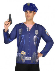 T-shirt police homme
