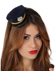 Mini casquette police femme