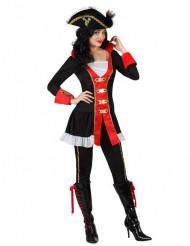 Déguisement amiral pirate femme