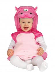 Déguisement hippopotame rose bébé