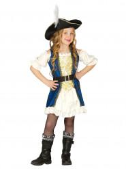 Déguisement capitaine pirate bleue fille