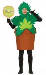 Déguisement plante cannabis adulte