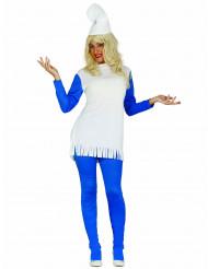Déguisement robe nain bleu femme