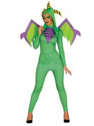 Déguisement dragon vert femme