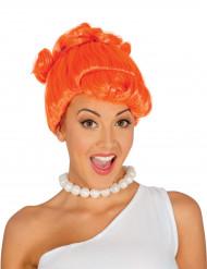 Perruque femme des cavernes orange adulte