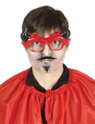 Lunettes avec moustaches démon adulte Halloween