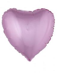 Ballon en aluminium coeur rose 45 cm