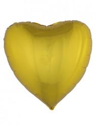 Ballon aluminium coeur doré 76 cm