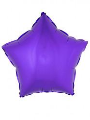 Ballon aluminium étoile violet 45 cm